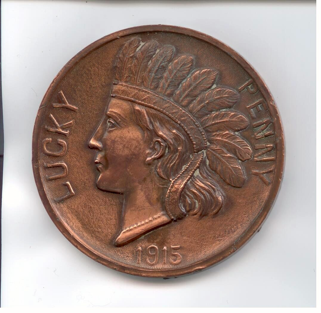 Lucky penny with Montana cut out